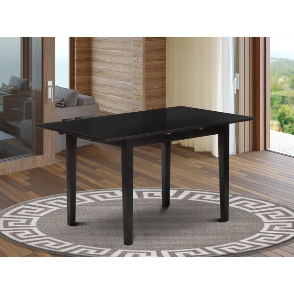 Andover Mills Antonio Extendable Butterfly Leaf Rubberwood Solid Wood Dining Table Reviews Wayfair