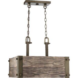 Best Boda 4-Light Square/Rectangle Chandelier By Loon Peak