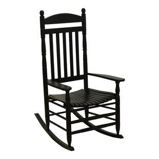 August Grove Benton Round Post Slat Back Rocking Chair