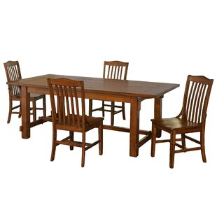 Fincher 5 Piece Dining Set by August Grove Coupont