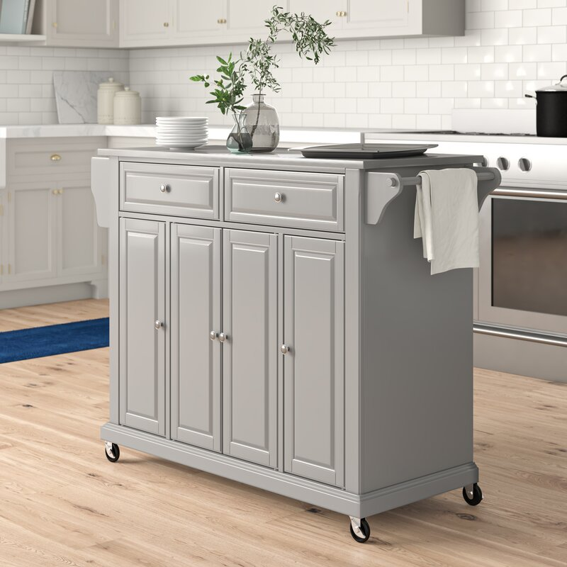 Three Posts Haslingden Kitchen Island Reviews Wayfair