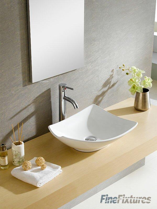 Fine Fixtures Modern Ceramic Specialty Vessel Bathroom Sink ...
