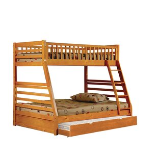 Bang Twin Over Full Bunk Bed with Trundle by Harriet Bee