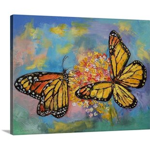Monarch Butterflies By Michael Creese Painting Print On Canvas