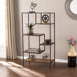 Mathry Reclaimed Wood Etagere Bookcase by 17 Stories