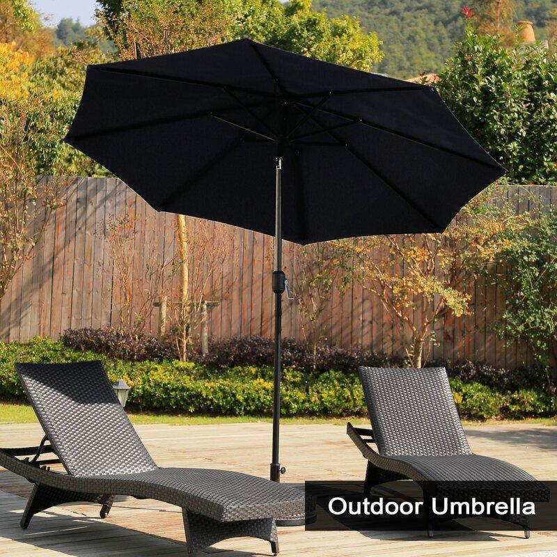 Symple Stuff Chappell 9 Market Umbrella Reviews Wayfair