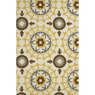 Etlingera Handmade Orange and White Indoor/Outdoor Area Rug