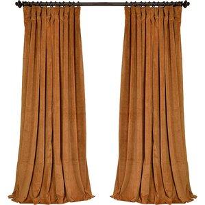 Rhinehart Solid Blackout Thermal Rod Pocket Single Curtain Panel