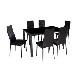 Haris 7 Piece Breakfast Nook Dining Set by Ebern Designs