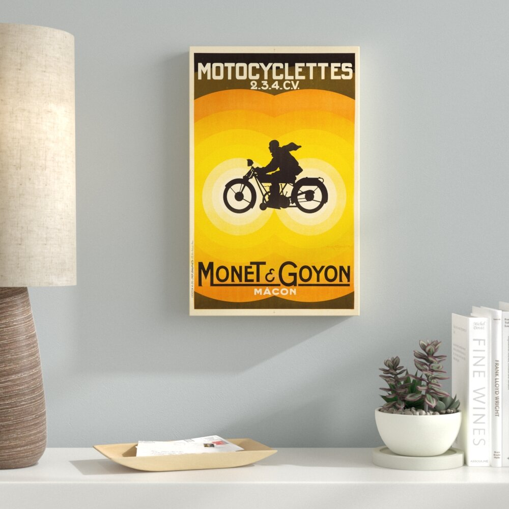 Latitude Run \'Motorcycle 3\' Graphic Art Print on Wrapped Canvas ...
