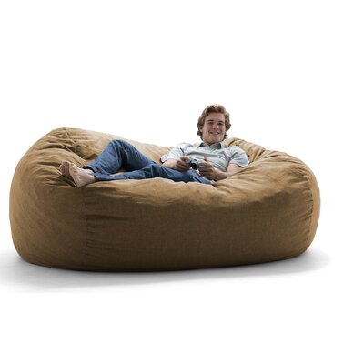 Remarkable Comfort Research Big Joe Lux Bean Bag Sofa Upholstery Pecan Ibusinesslaw Wood Chair Design Ideas Ibusinesslaworg