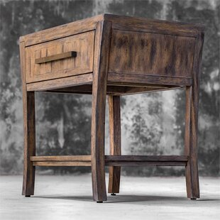 Loon Peak Humphries Wood End Table with Storage