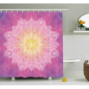 Erica Digital Asian Mandala Single Shower Curtain