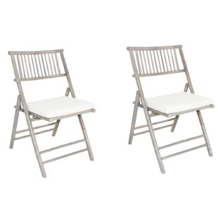 Buyers Choice Phat Tommy Folding Beach Chair with Cushion (Set of 2)