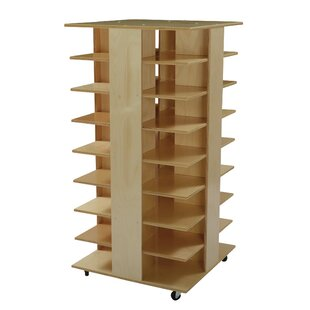 Reviews Double Sided 32 Compartment Cubby with Casters ByChildcraft
