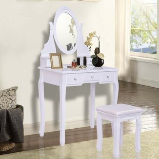 Charlton Home Mario Vanity Set with Mirror
