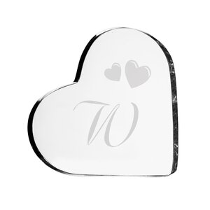 Personalized Acrylic Initial Heart Cake Topper