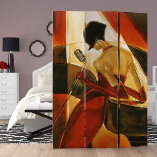 Hervey Bay Canvas Painting 3 Panel Room Divider By House of Hampton