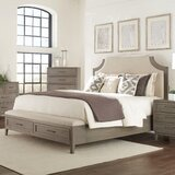 Bangor Solid Wood and Upholstered Low Profile Storage Platform Bed by Three Posts™