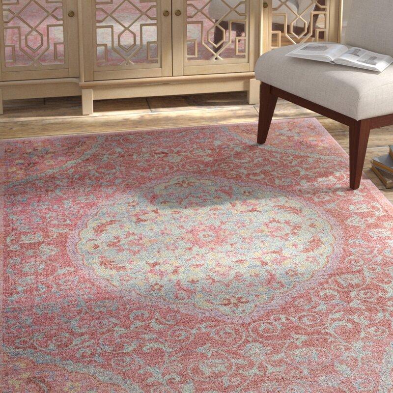 Bungalow Rose Chauncey Floral Pink Area Rug Reviews Wayfair