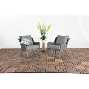 Oden Patio 2 Piece Rattan Sofa Seating Group with Cushion