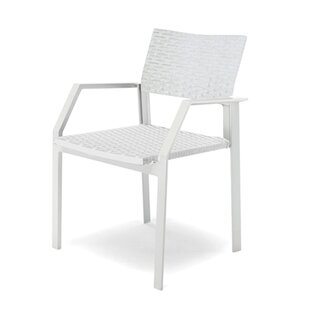 Breeze Stacking Patio Dining Chair with Cushion (Set of 6)