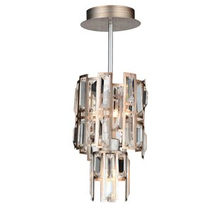 Colby 3-Light Crystal Pendant by Rosdorf Park