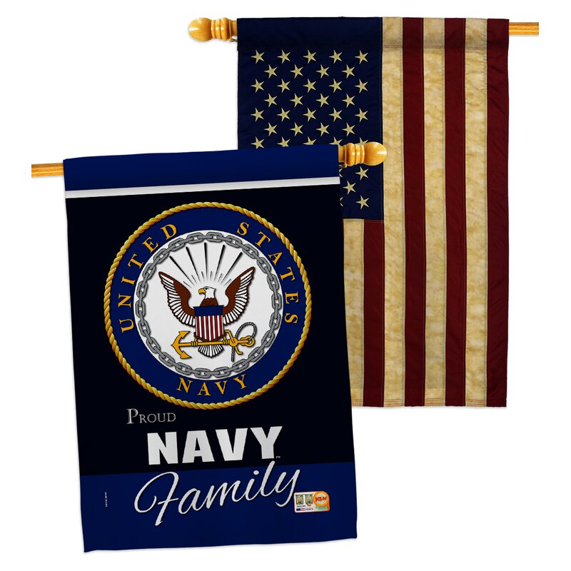 Breeze Decor 2 Piece Us Armed Forces Proudly Family Impressions Decorative 2 Sided Polyester 40 X 28 In House Flag Set Wayfair