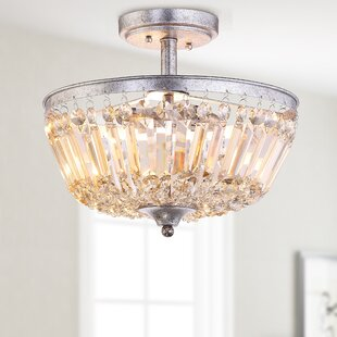 Kindel 3-Light Semi Flush Mount by Ophelia & Co.