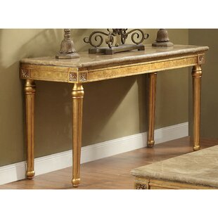Tupper Marble Top Console Table by Astoria Grand