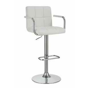 Teterboro Grid Adjustable Height Swivel Bar Stool by Orren Ellis