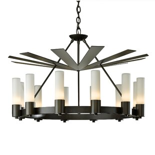 Hubbardton Forge Piccadilly 12-Light Wagon Wheel Chandelier