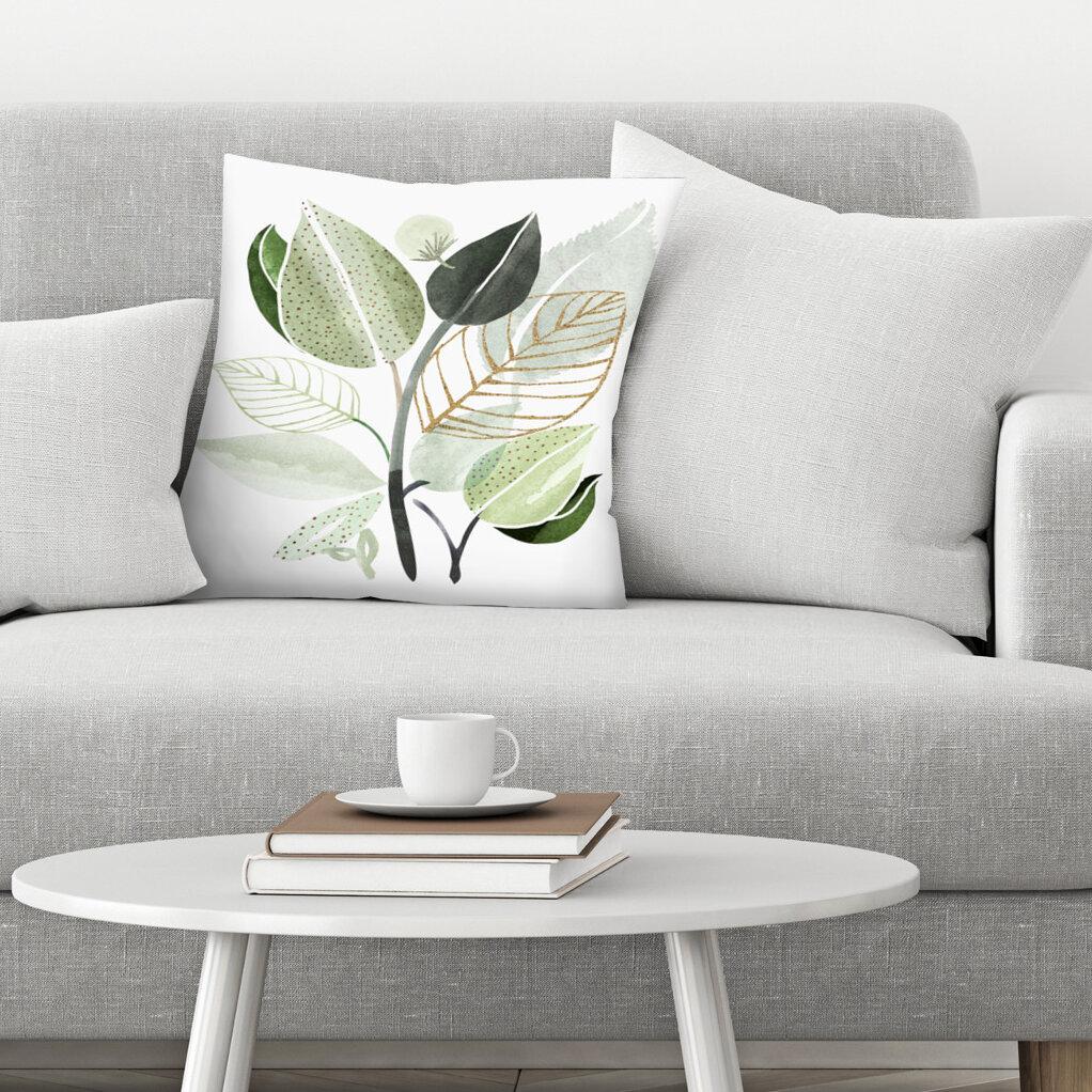 East Urban Home Forest Bouquet Throw Pillow Wayfair