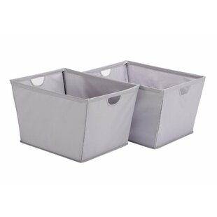 Top Reviews Wire Frame Folding Canvas Storage Bin (Set of 2) By Rebrilliant