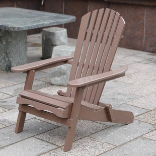 Arianna Outdoor Solid Wood Folding Adirondack Chair by Loon Peak