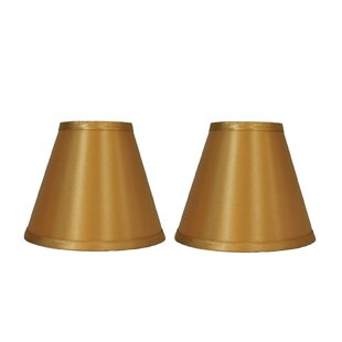 6 Satin Empire Clip-on Lamp Shade (Set of 2)