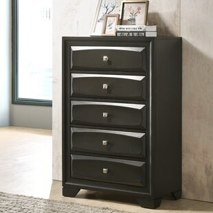 Beagan Wood 5 Drawer Chest
