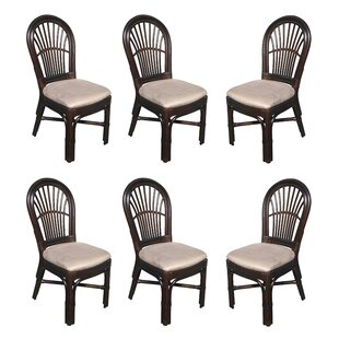 Alim Rattan Upholstered Dining Chair (Set of 6) Astoria Grand