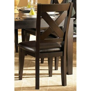 Beaird Leatherette Upholstered Dining Chair (Set of 2)