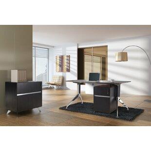 Haaken Furniture Manhattan Collection 3 Piece Desk Office Suite
