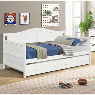Hot Price Daxin Twin Solid Wood Daybed With Trundle By Latitude Run