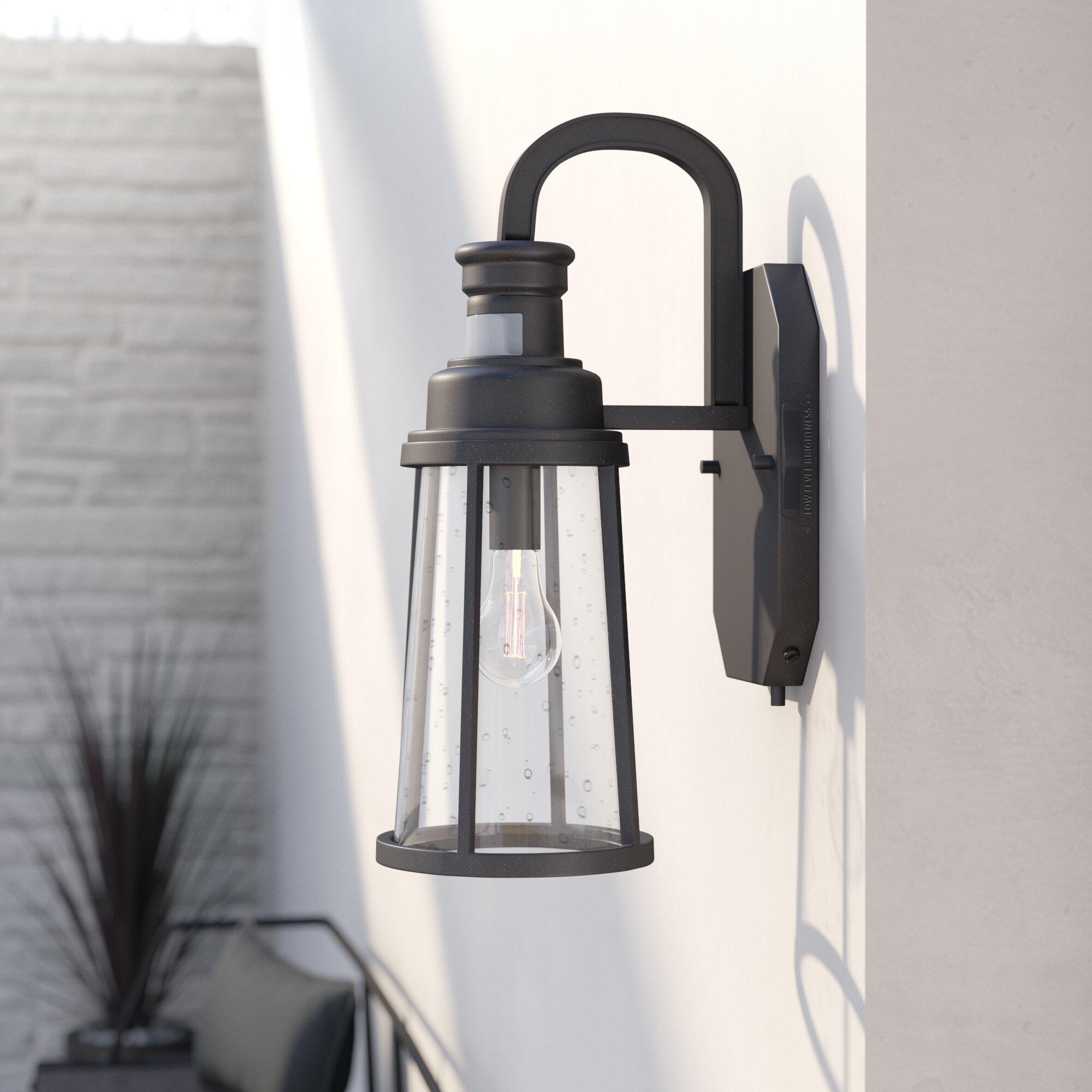 Trent austin design cascades 1 light metal outdoor wall lantern reviews wayfair