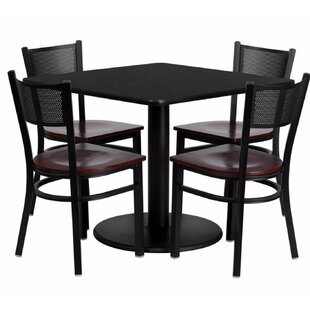Mauzy Square Laminate 5 Piece Dining Set