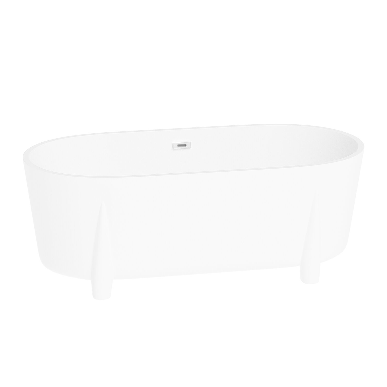 Warehouse Union 67 X 32 Freestanding Soaking Acrylic Bathtub Wayfair