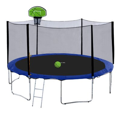 15' Round Trampoline with Safety Enclosure Exacme