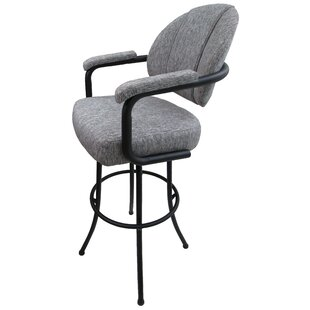 Shoshana 30 Swivel Bar Stool Red Barrel Studio