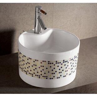 Find for Isabella Ceramic Circular Vessel Bathroom Sink ByWhitehaus Collection