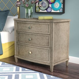Everly Quinn Albright Contemporary 3 Drawer Nightstand