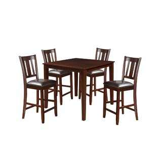 Kroll 5 Piece Counter Height Dining Set by Charlton Home