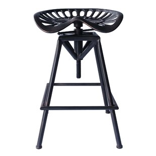 Hoggan Adjustable Height Swivel Bar Stool..